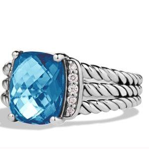 David Yurman Blue Petite Wheaton Ring 5.75